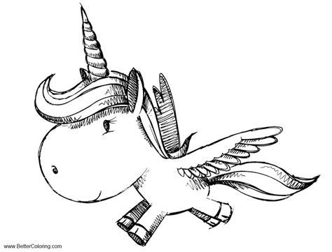 alicorn coloring pages unicorn pegasus  printable