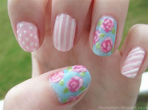shabby chic nails hey nice tips shabby chic rose nail art