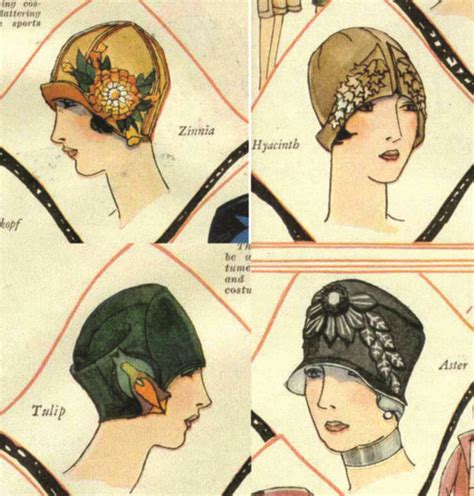 vintage pattern files  sewing cloche hats