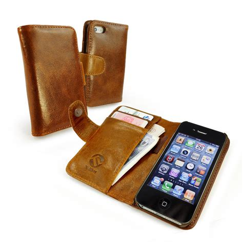 iphone 4s wallet apple iphone 4 4s premium leather phone in brown