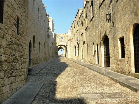 rhodes  town medieval town