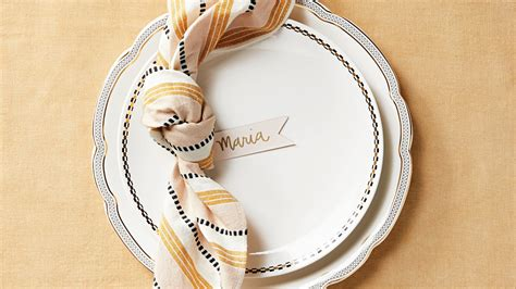knotted napkin  place card martha stewart