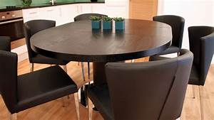 modern round black ash extending dining set trendy black With modern black round dining table