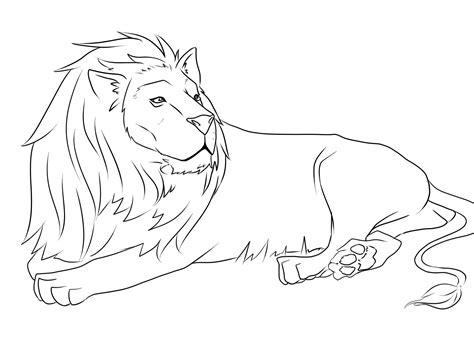 Lion Drawing Art Jungle Lion Coloring Page Pencil