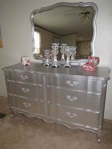 loraine antique silver dresser with mirror martina silver