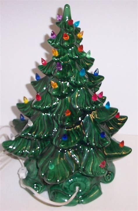 vintage lighted bulbs ceramic christmas tree atlantic mold