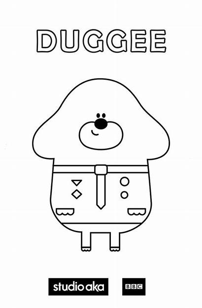 Duggee Hey Coloring Colouring Pages Birthday 4th