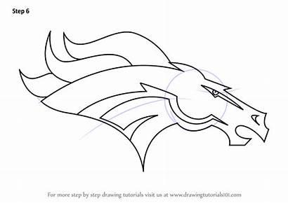 Broncos Denver Draw Step Drawing Nfl Football