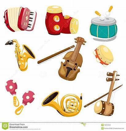 Instruments Musical Instrument Cartoon Clipart Icon Playing