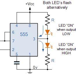 sinking  sourcing   timer circuit electronics