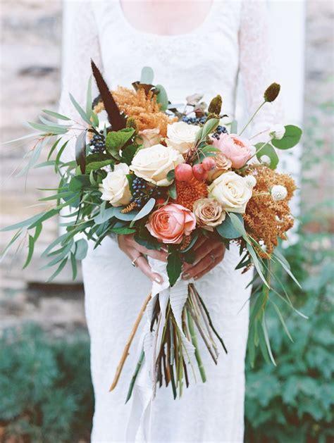 boho rustic fall wedding bouquet