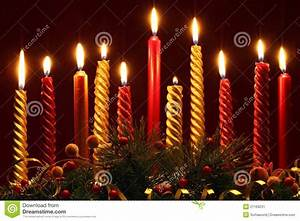 Christmas candles stock image Image of nobody, candles