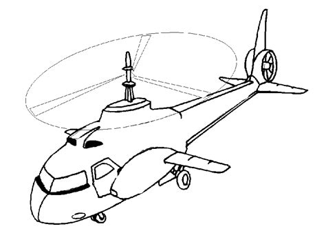 coloring page helicopter coloring pages