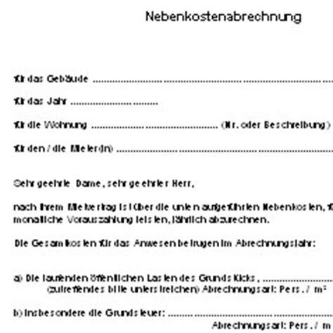 nebenkostenabrechnung deutsche anwaltshotline