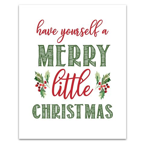 printable christmas sign merry little six clever