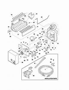 Ice Maker Diagram  U0026 Parts List For Model 2537179010d