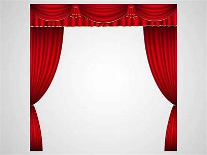 Stage Theater Curtains Clipart Vector Theatre Curtain