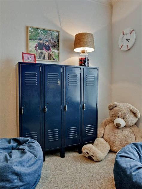 Love These Blue Lockers! So Great For Organizing A Kids