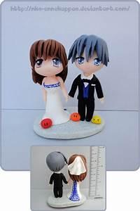 Clannad - Nagisa and Tomoya wedding cake topper by Nko ...