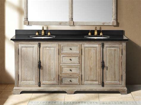 rustic bathrooms farmhouse vanity   driftwood grey