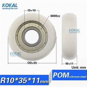 R1035 11  10pcs Low Noise Pom Plastic Coated With 6000zz