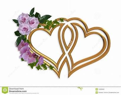 Invitation Clipart Hearts Gold Shower Bridal Clip