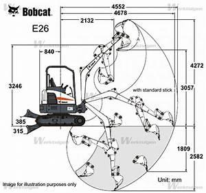 Bobcat E26 - Bobcat - Machinery Specifications