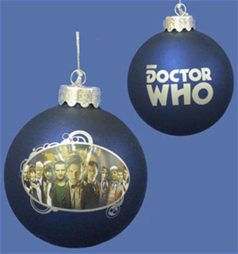doctor who 5 mini tree ornaments merchandise guide the doctor who site