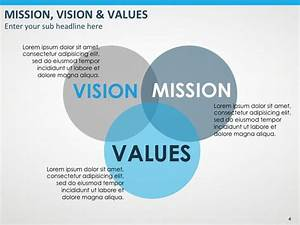vision mission values powerpoint template powerpoint With vision statement template free