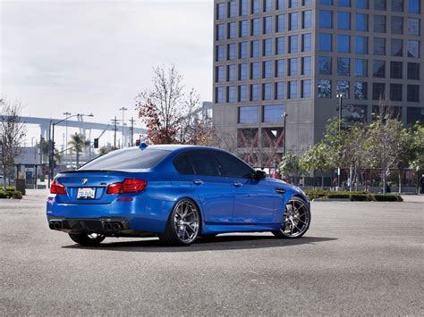 Wallpaper Bmw Blue Car Back View