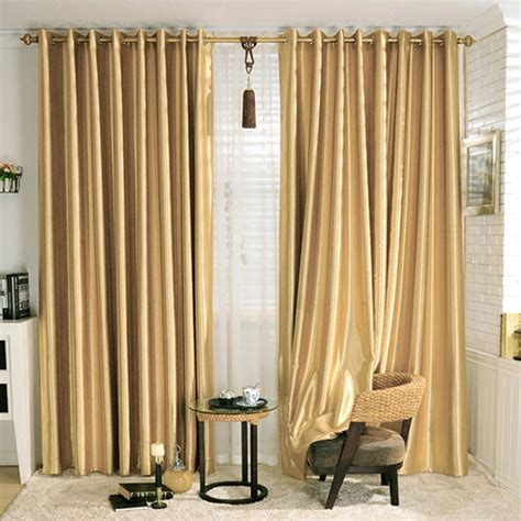 Gold Drapery Panels - gold blackout grommet curtain panel 42 quot w x 84 quot l dk