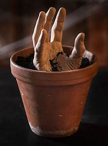 Dekoschnee Selber Machen : tolle halloween dekoration zum selberbasteln hand aus blumentopf ~ Watch28wear.com Haus und Dekorationen