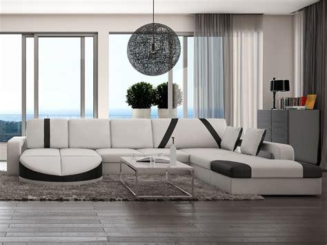densité canapé canapé d 39 angle droit en simili noir blanc mintika