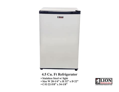 lion premium grills eco friendly refrigerator outdoor