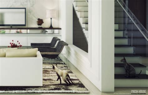 Chic Contemporary Spaces Rendered By Anh Nguyen by Chic Contemporary Spaces Rendered By Anh Nguyen