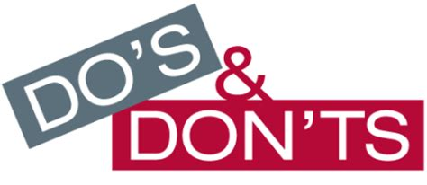 the do s don ts dos and don ts for december in the association world