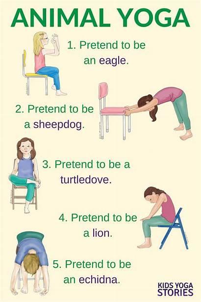 Yoga Poses Animal Stories Chair Preschool Pose