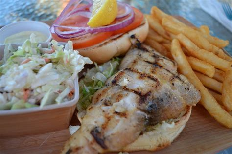 fresh seafood grouper grilled