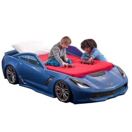 Corvette Car Bed - step2 corvette z06 toddler to car bed blue walmart