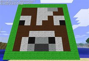 cow face pixel art minecraft project With minecraft cow template