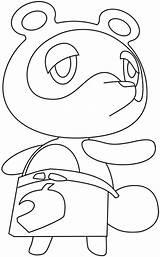 Drawing Nook Crossing Tom Animal Draw Step Tutorial sketch template