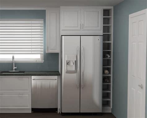 ikea kitchen hack  custom wine cabinet   narrow space