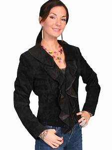 Scully Ladies Leather Ruffled Western Jacket