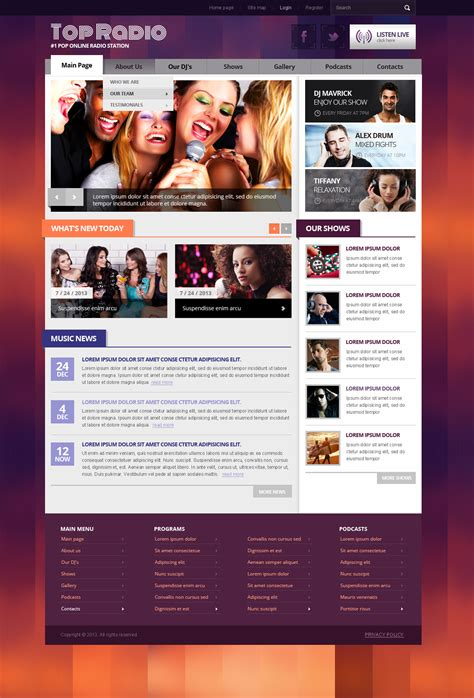 top free templates joomla top radio joomla template joomla radio station theme