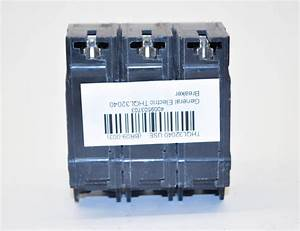 Ge General Electric Thql32040 40a 240v 3 Pole Circuit