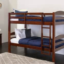 mainstays twin over twin wood bunk bed multiple finishes