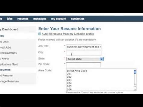 everysapjob how to upload your resume with linkedin