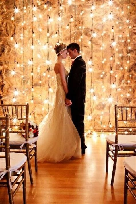 Picture Of a super romantic and bright lights wedding