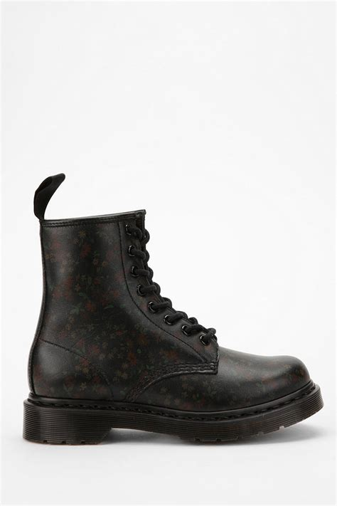 dr martens  flower eye boot  black lyst