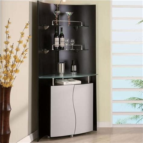 bar cabinet modern style black and white modern minimalist corner home bar
